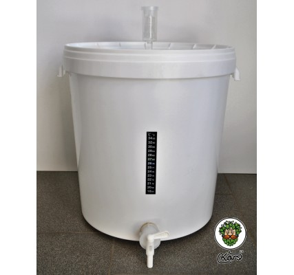 Бражная емкость с гидрозатвором, термометром и краном 33 литра (комплект) 08101