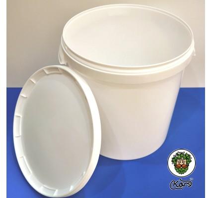 Ведро пластиковое белое 33 литра (бродильная емкость)