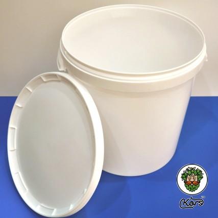 Ведро пластиковое белое 33 литра
