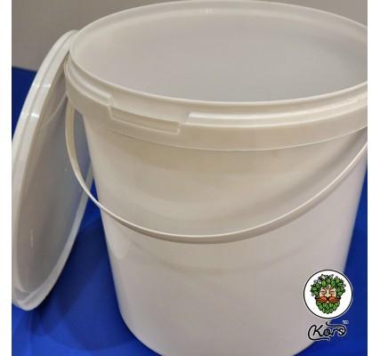 Ведро пищевое белое 10 литров (бродильная емкость)