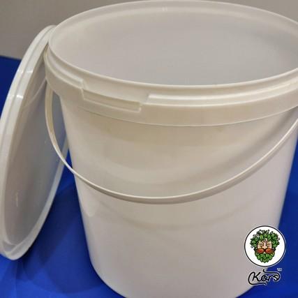 Ведро пищевое белое 10 литров