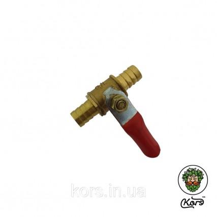Кран латунь адаптер-елочка 10-10 мм.